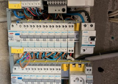 Photos de différents projets d'électricité